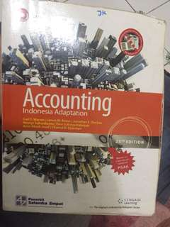BUKU ACCOUNTING 25'th edition, indonesia adaptation Carl Scwarren penerbit SALEMBA EMPAT