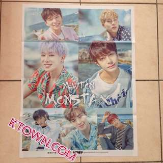 [READY STOCK] Monsta X Newton Folded Poster