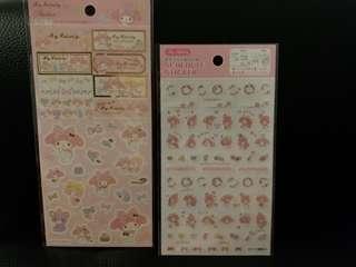 日本直送sanrio my melody貼紙