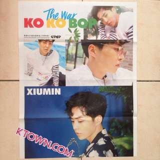 [READY STOCK] EXO Xiumin The War Kokobop Folded Poster