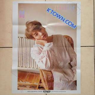 [READY STOCK] BTS Jungkook Love Yourself: Her DNA Folded Poster