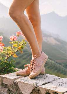LOOKING FOR SUPERGA x drea chong collab sneakers in mohogany rose