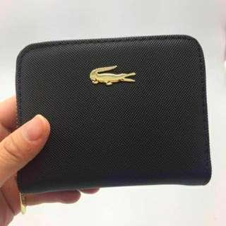 LACOSTE zip around half wallet FREE SHIPPING!!!