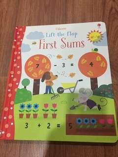New Usborne Lift A Flap Book First Sum