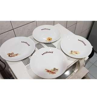 迪士尼餐盤組4入 清廚房用不到物品 保存良好 自取面交