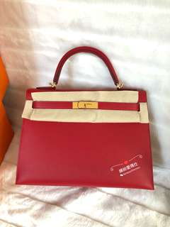 Hermes Kelly 32cm Q5 正紅色 Epsom Leather with GHW 靚到暈,Full set with original receipt. Please pm if interested,Thanks😊