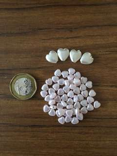 Heart shaped Pearl White Beads