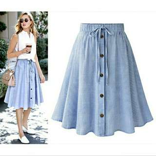 Stripe Big Swing Skirt