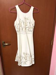Threadtheory embroidery white dress