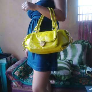 Lovcat Paris Gorgeous Canary Yellow Handbag