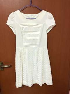 Lace crochet white dress