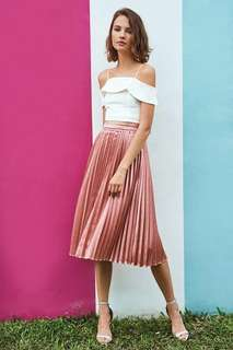 Closet Lover Aerin Pleated Skirt in Pink