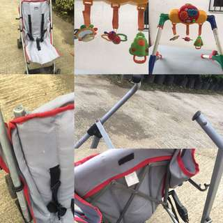Hanging toy and Stroller