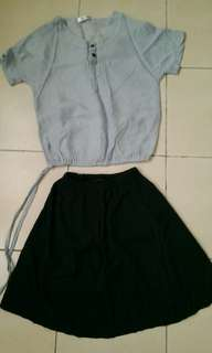 Dress , 2 pcs shirt and skirt