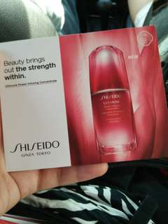 Shiseido 3 days sample