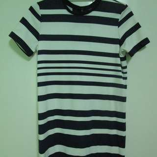 Forme Blue and White Stripes Dress