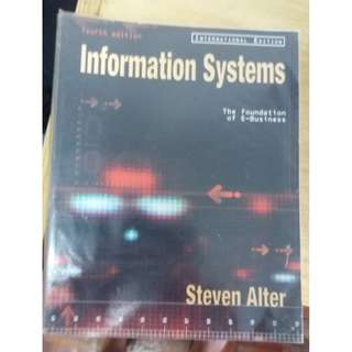 INFORMATION SYSTEMS TEXT BOOK - STEVEN ATLER
