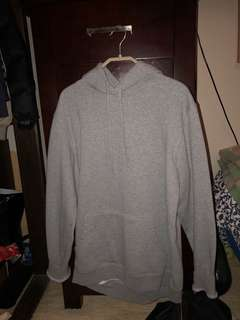 OVERSIZED GREY AS COLOUR HOODIE