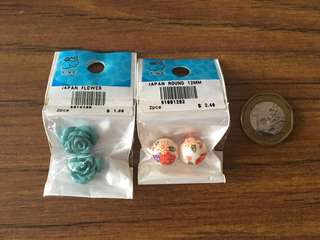 Japanese beads - Blue Roses and Floral