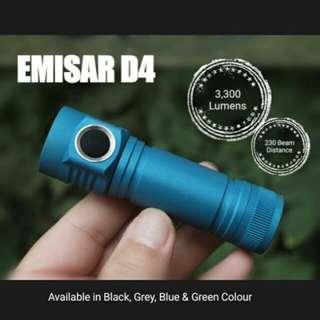 (In-stock) EMISAR D4 3,300 Lumens Compact Flashlight