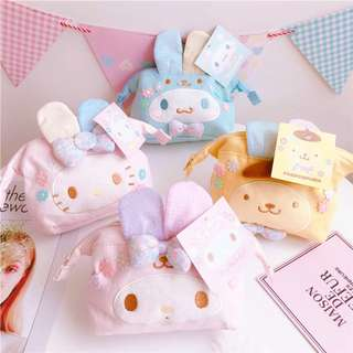 【06005】三麗鷗 立體 兔耳朵 復活節 可愛化妝包收納包 旅行收納
