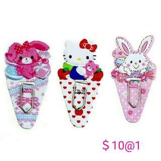 日本sanrio HelloKitty 兔子 萬字夾 書夾