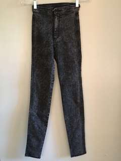 REPRICED!!! Divided High Waisted Acid Wash Jeans Size 32