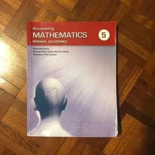 Secondary 5 Maths textbook normal (academic)