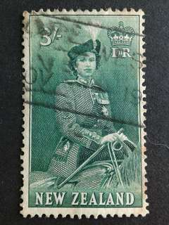 New Zealand-QEII 3/- stamps#1
