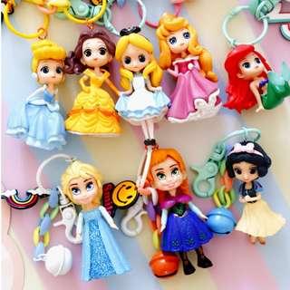 【06015】迪士尼 公主系列鑰匙圈 可愛玩偶吊飾掛件