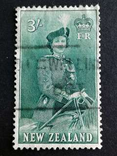 New Zealand-QEII 3/- stamps#2