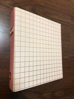 🚚 A4 pink & gold ring folder
