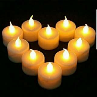 🚚 INSTOCK LED WARM YELLOW CANDLE LIGHTS
