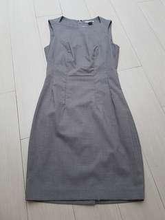 H&M grey office dress FIX PRICE
