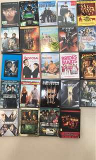 Selling these dvds. Per piece $5. if buy more than 5, each will go at $4