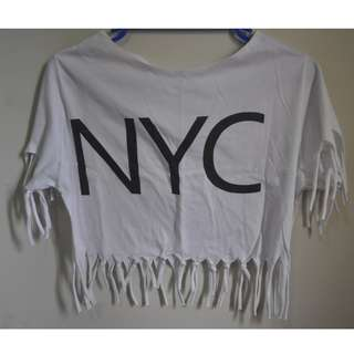 NYC FRINGE WHITE BOHO TOP