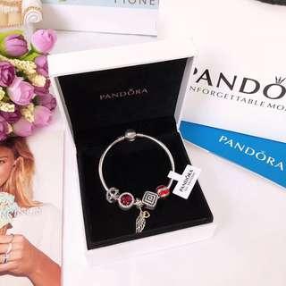 Pandora 潘朵拉 最新款手鏈 925 純銀材質 水鑽全手工鑲嵌 時尚
