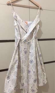 Sexy Wrap Dress Beige M-L