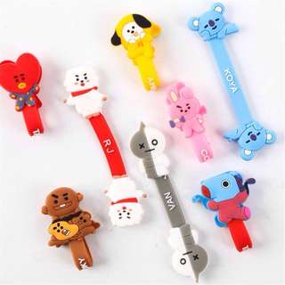 BT21 BTS Phone USB Cable Fastener / Keeper Button