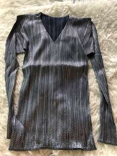Pleats please By Issey Miyake Blue metallic Top