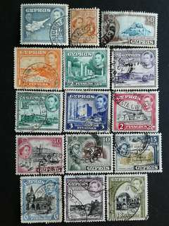 Cyprus used stamps
