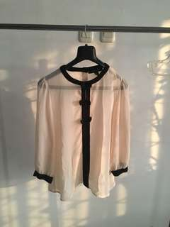 Cute Ribbon Blouse by Forever 21 (M)