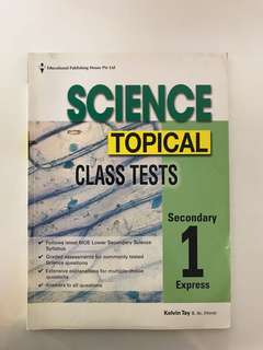 Sec one science class tests