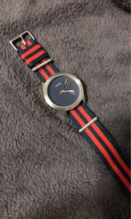 Nixon Watch (Blue and Red Strap)