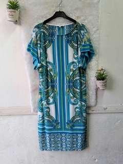 Aztec Turquoise Half Sleeve Dress