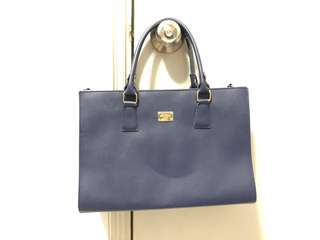 韓國 韓款 藍 包包 手袋 冇花冇污點
