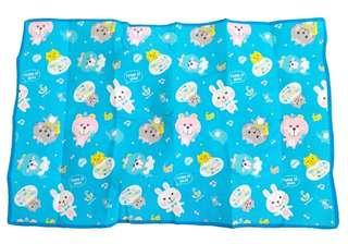 可愛藍色小動物戶外野餐墊 單人地墊 沙灘墊 可愛桌墊 88×58cm