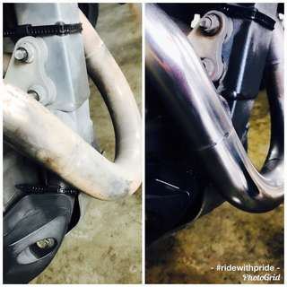 ⭐️💥Motobike Header Exhaust Polish✨🔥
