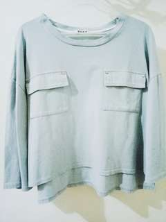 Korean Style Faded Blue Top
