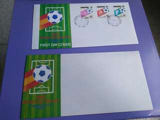 1982 World Cup Soccer Commemorative Stamps & First Day Cover